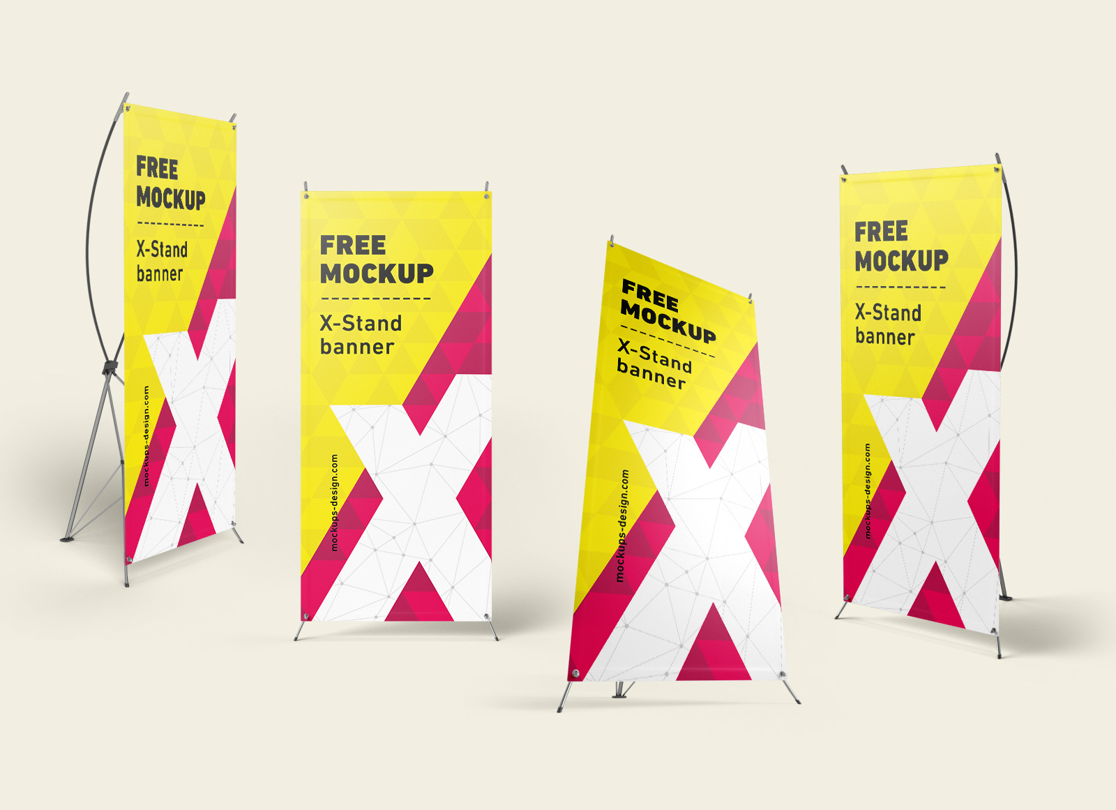 Free-X-Stand Banner Mockup PSD